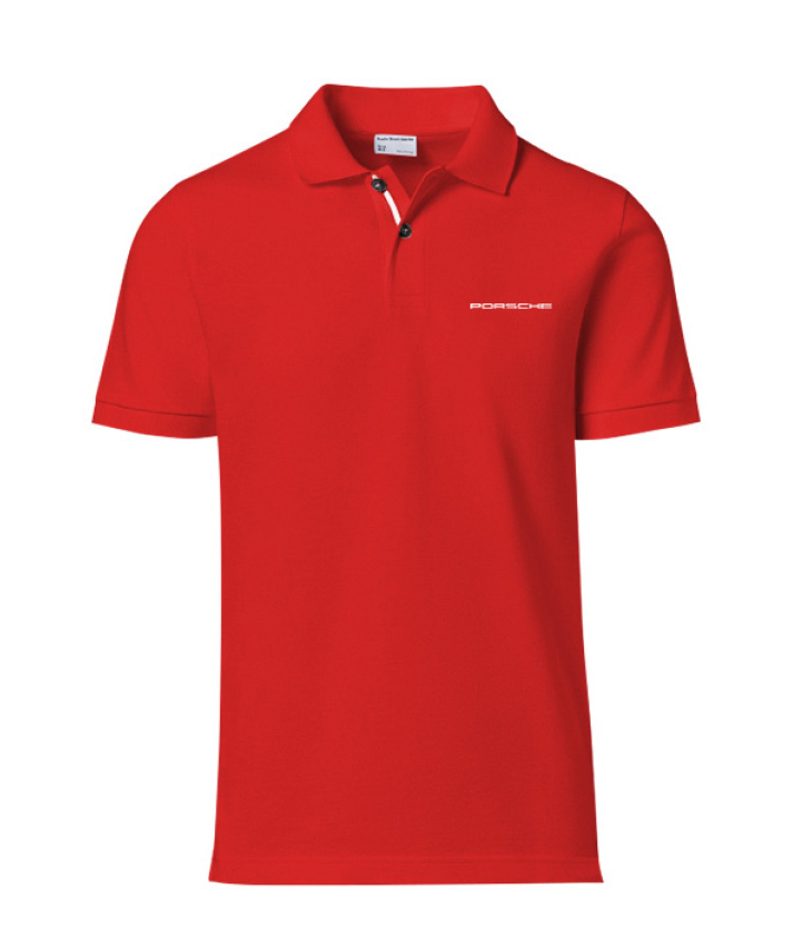 Men's 'PORSCHE' Polo - Red