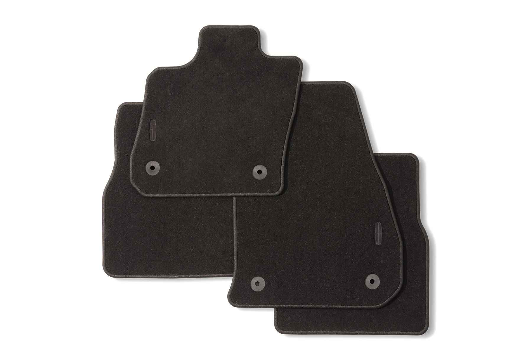 Floor Mats - Carpeted, 4-Piece, Black, With Lincoln Star Logo - GD9Z5413300AA
