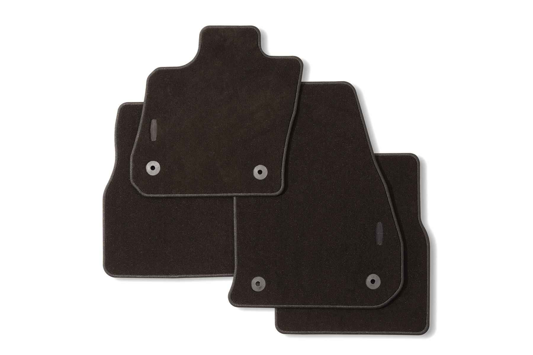 Floor Mats - Carpeted, 4-Piece, Espresso, With Lincoln Star Logo - GD9Z5413300AB