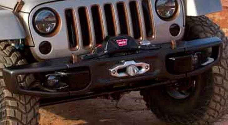 OEM 2013 Jeep Wrangler JK 2-Door Bumper (Part #82214754AB)