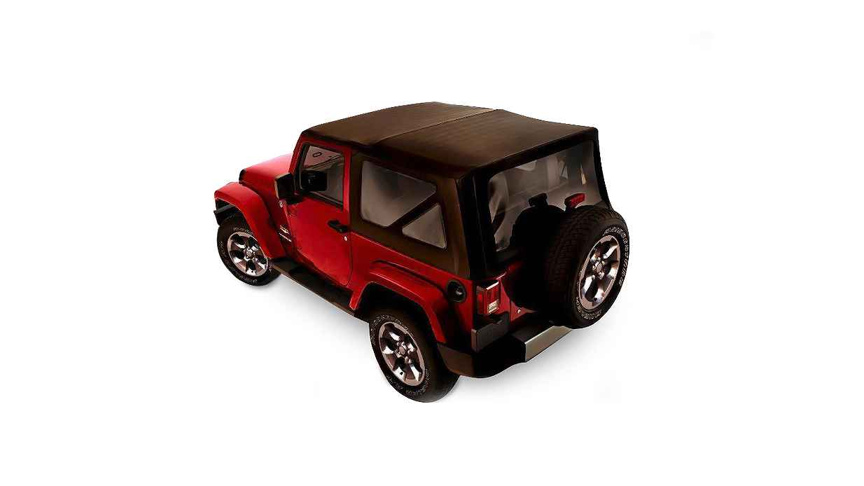 OEM 2013 Jeep Wrangler JK 2-Door Soft Top Window Kit (Part #82213832)