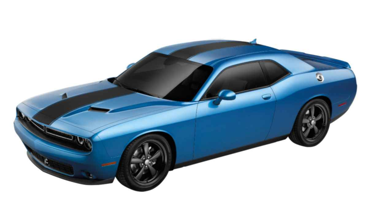 OEM 2020 Dodge Challenger Horizontal Racing Stripe - w/o Sunroof - Matte Black (Part #82214482)