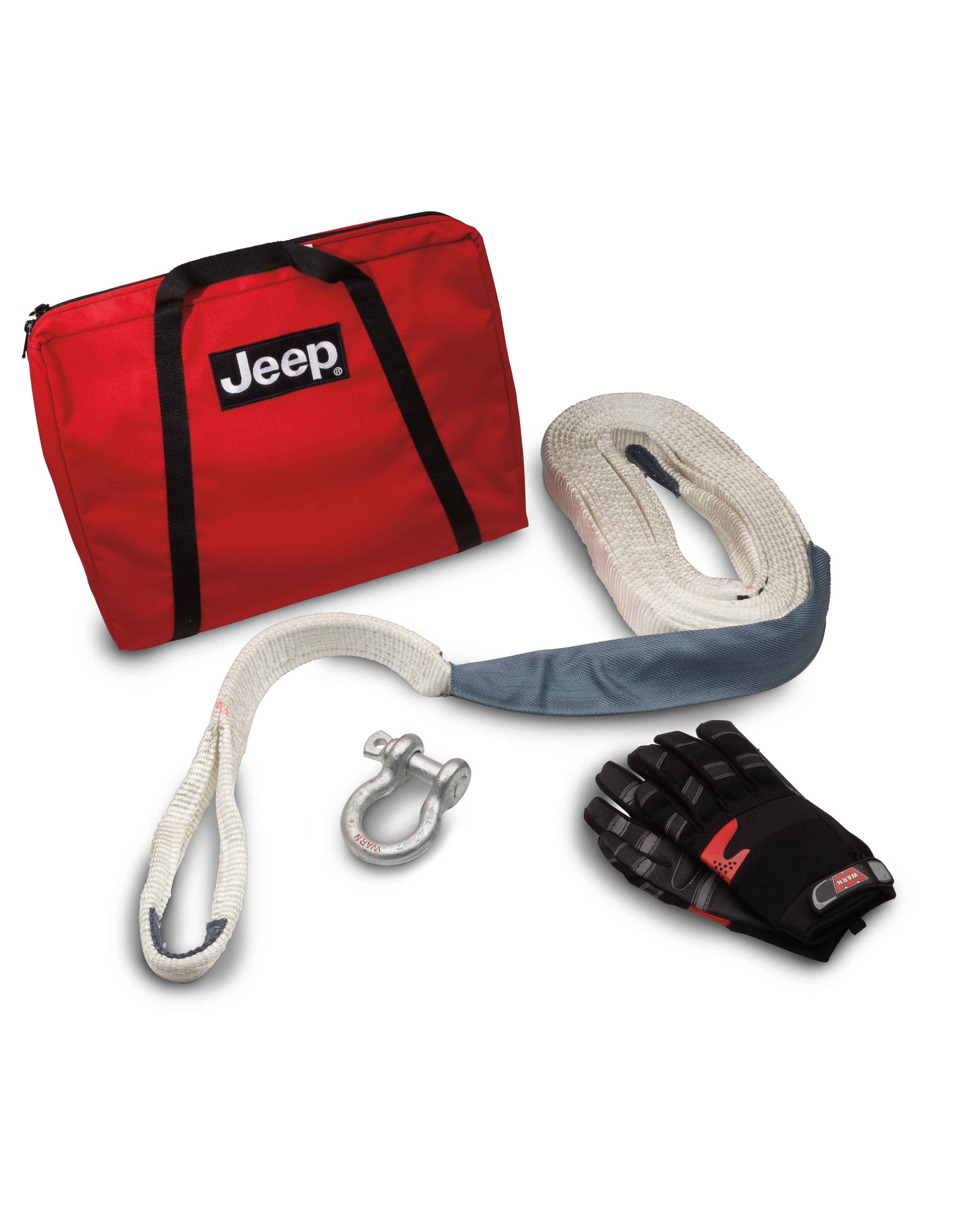 OEM 2013 Jeep Wrangler JK 2-Door Jeep® Trail Rated® Winch Accessory Kit (Part #82213901AD)