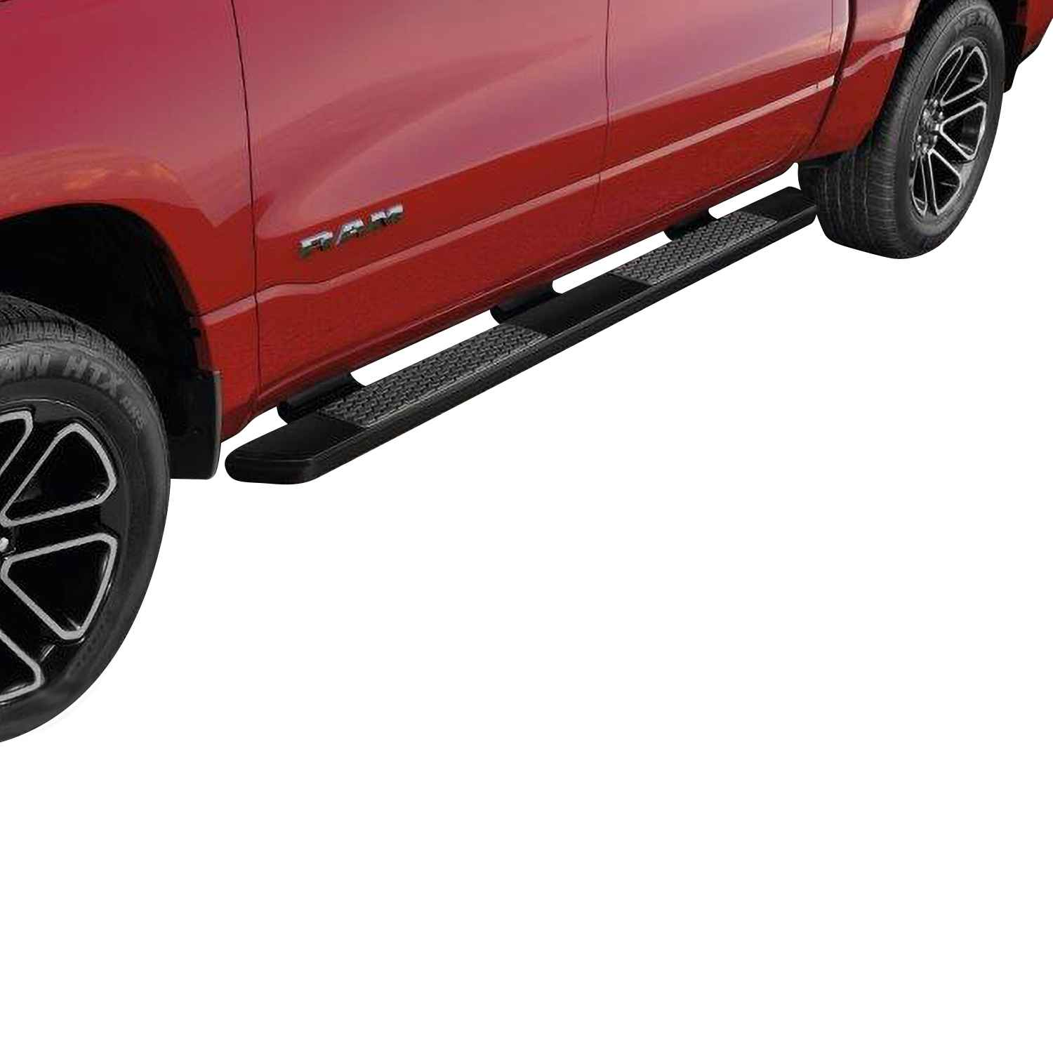 OEM 2021 Ram 1500 (All-New) Cab Length Painted Running Boards, Crew Cab, Matte Black (Part #82215301AC)