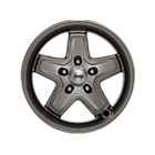OEM 2013 Jeep Wrangler JK 4-Door 17 x 8.5 Inch Argent Classic 5 Spoke (Part #P5155982AB)