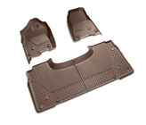 OEM 2019 Ram 1500 (All-New) All-Weather Floor Mats, Front & Rear -- Quad (Brown) (Part #82215322AD)