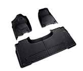OEM 2019 Ram 1500 (All-New) All-Weather Floor Mats, Front & Rear -- Quad (Black) (Part #82215323AD)